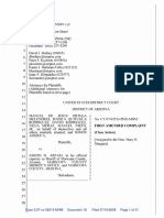 First Amended Complaint of Melendres v. Arpaio lawsuit by ACLU