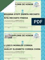DIPLOMAS escuela Diminical