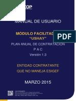 Manual USHAY - PAC Sin ESIGEF - Entidades Contratantes_0