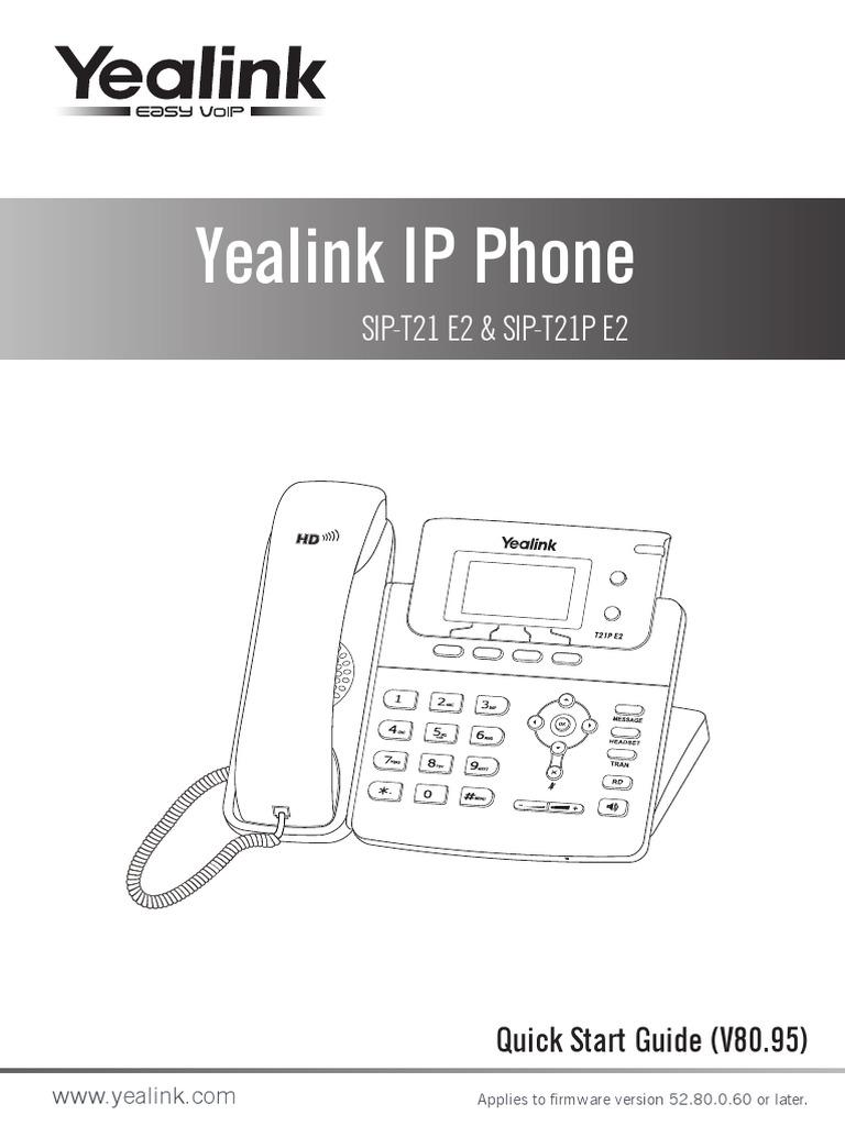 yealinksipt21pmanual | Ip Address | Telephone