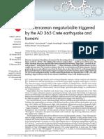 Polonia Alina Et Al 2013 Mediterranean Megaturbidite Triggered by the AD 365 Crete Earthquake and Tsunami