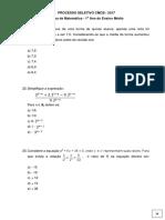 1º ANO MÉDIO Matemática