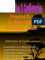 Defibrillation Amp Cardioversion
