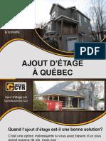 Conseils pour ajout d'étage à Québec - Constructions Cyr