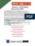 Compensators - GATE Study Material in PDF