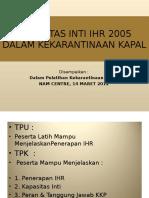 Kapasitas Inti IHR 2005