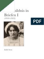 02 EdithSteinGesamtausgabe SelbstbildnisInBriefen I 1916 1933
