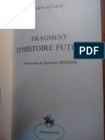 Trousson, Presentación de Gabriel Tarde, Fragment d'Histoire Future