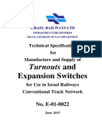 Technical Specification Turnouts and Expansion Switches