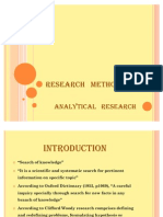 Analytical Research