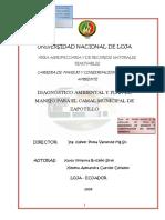 Diagnóstico Ambiental y Plan de Manejo Modi