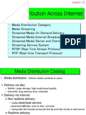Lesson12 pdf | Streaming Media | Hypertext Transfer Protocol