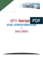 UNIT III - Diesel Injection