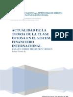 Actual Id Ad de La Teoria de La Clase Ociosa en El Sistema Financiero Internacional