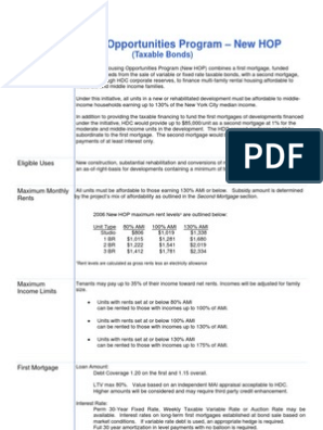 NYCHDC June 2006 New HOP Term Sheet   Mortgage Insurance