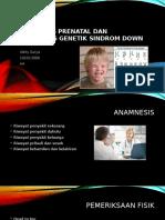 Diagnosis Prenatal Dan Konseling Genetik Sindrom Down