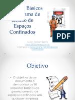 Requisitos Basicos Programa de Gestao de Espacos Confinados