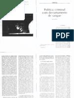 [Artigo] Política criminal com derramamento de sangue - Nilo Batista.pdf