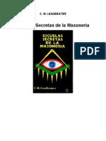 leadbeater charles - escuelas secretas de masoneria
