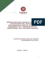 7.2 Propuesta Ordenanza Uso de Suelo Del PDOT