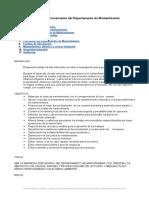 Manual Funcionamiento Del Departamento Mantenimiento