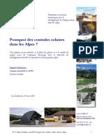 Pourquoi Des Centrales Solaires Dans Les Alpes