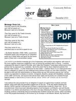 Senator Krueger's Community Bulletin - December 2016