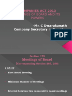 Board Meetings and Power of Boards -Act 2013 19-10-2013