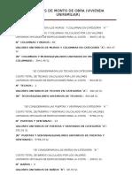 Cálculos de Monto de Obra (1)