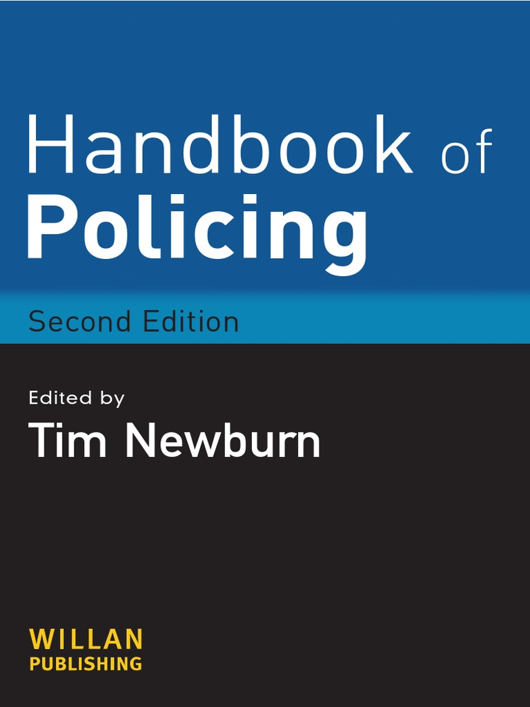 Newburn tim handbook of policing police crime justice handbook of policing police crime justice fandeluxe