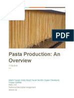 Technical Description Pasta Production