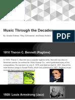 music through the decades presentation