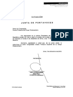 Junta de Portavoces a Realizarce El 6 de Diciembre