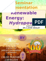 Hydropower As a renewable energy source Seminar PPT by Caleb Pradhan