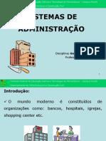1-Sistemas de Administração de Materiais