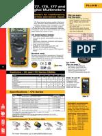 Fluke 73-77-175 177 and 179 Digital Multimeter Datasheet