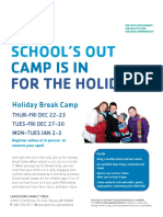holiday day camp flyer