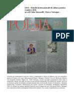 """Dicembre 2016 - POESIA - N. 321 - Fabio Simonelli recensisce """"Proiettili di-versi"""" di Marco Vetrugno"""