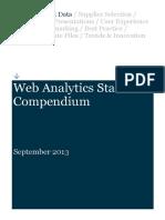 Web Analytics Statistics Compendium September 2013