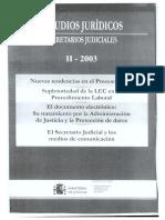 La protección del documento electrónico en el Derecho Penal. El derecho a la intimidad. Algunas cuestiones sustantivo-procesales.