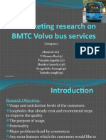 Marketing Research on BMTC Volvo