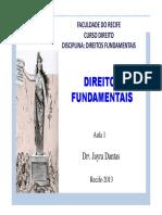 Aula 1_Direitos_Fundamentais_Teoria Dos Direitos Fundamentais