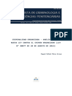 PÉREZ ARROYO, M. - Análisis de La Nueva Ley Contra El Crimen Organizado