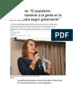 Gloria Alvarez y El Populismo