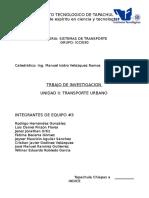 Proyecto de Investigacion Sistemas de Trasnporte Urbano
