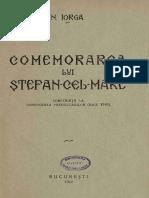 Nicolae Iorga-Comemorarea Lui Stefan-cel-Mare-conferinta Tinută La Conducerea Premilitarilor (Maiu 1940)