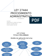Ley 27444 Procidimiento Administrativo