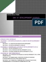 GRH Et Developpement d'Espace