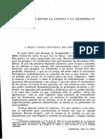 Las Relaciones Entre La Ciencia y La Filosofía - Casaubón, Juan