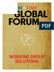 Fortune Time Global Forum 2016 Working Group Solutions